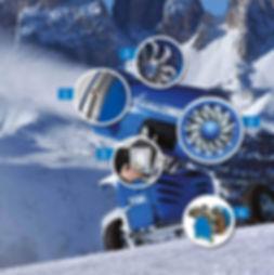 Основные компоненты снежной пушки Titan 2.0