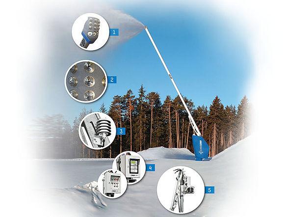 Снегогенератор: снежное ружье VisUp