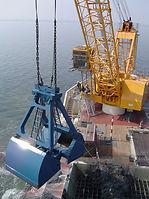 PLM grab cranes for dredging and bulk handling