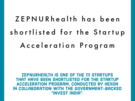ZEPNURhealth has been shortlisted for the Startup Acceleration Program