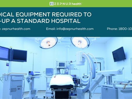 Medical Equipment for a Hospital Set up