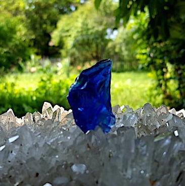 Elestial Sapphire/Tanzanite Fire Andara 12 gram