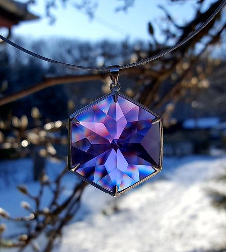 Prachtige en unieke Violet Soeverein Amethyst Andara Hanger