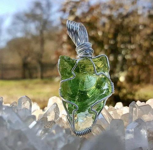 Merlin Green Andara Wrap Pendant 17 gram