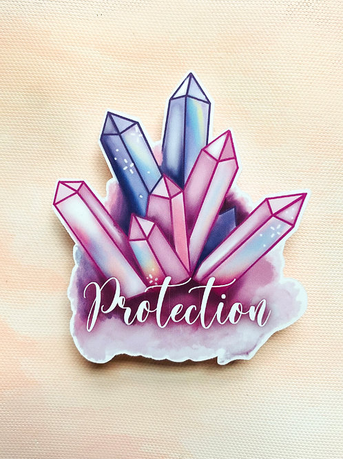 Protection Crystals Sticker