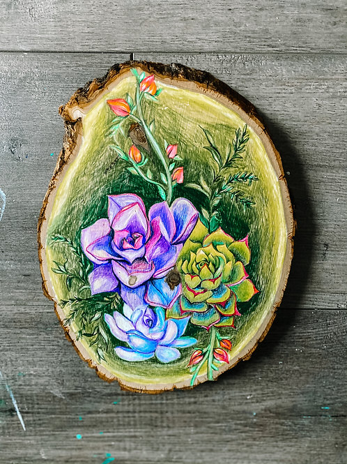 Succulent Wood Drawing