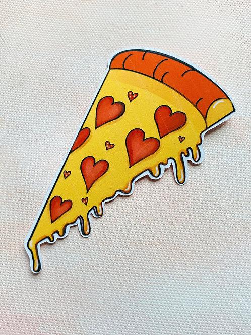 Heart Pizza Sticker