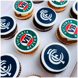 Beer and Footy Cupcakes