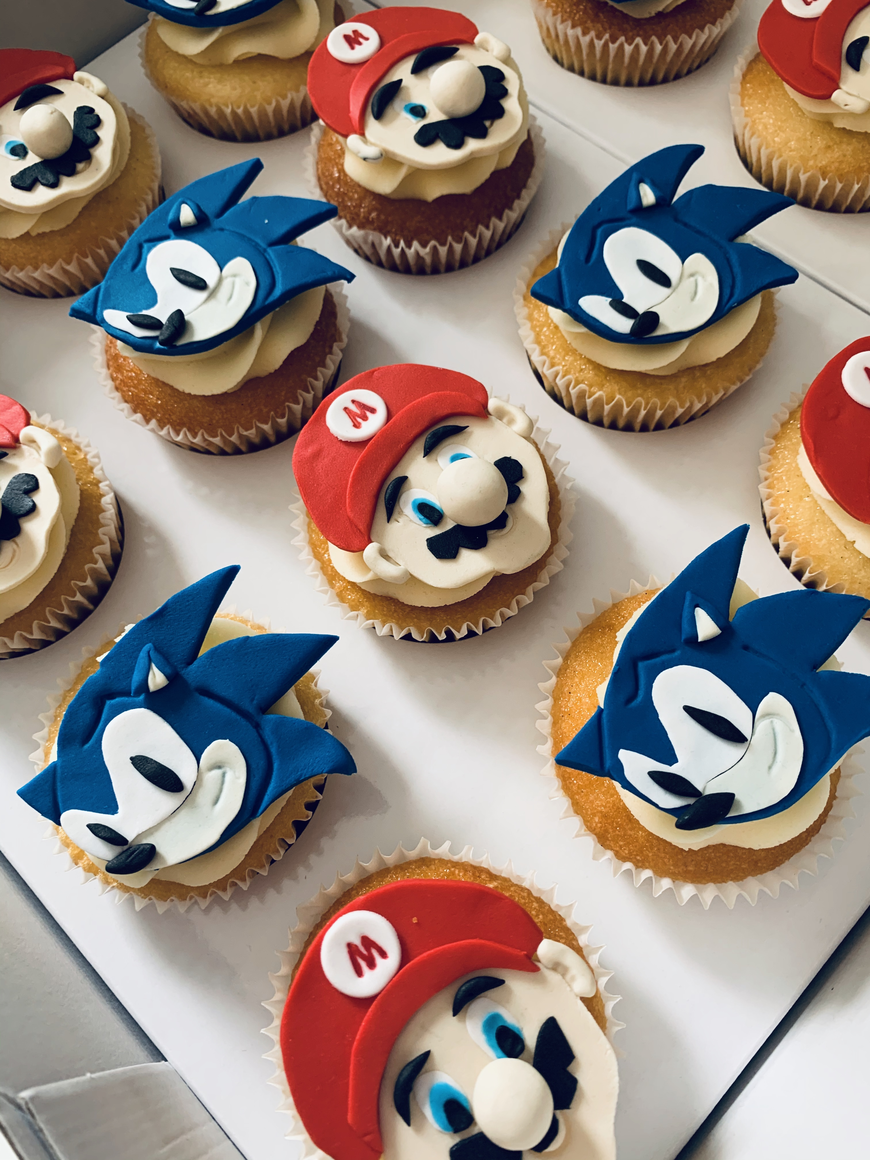 Mario and Sonic Cupcakes
