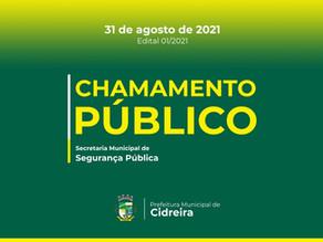 Chamamento Público para seleção de membros para o Conselho Municipal de Segurança Pública. COMSEP.