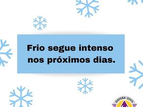 Frio segue intenso nos próximos dias