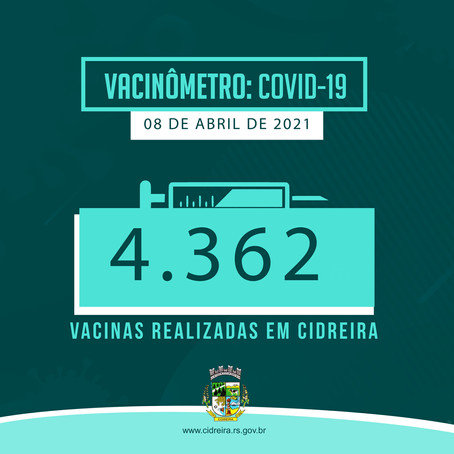4362 Vacinas realizadas em Cidreira