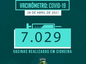 7029 vacinas realizadas em Cidreira