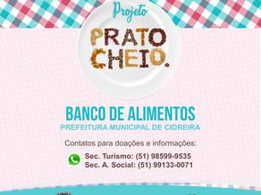 """Secretaria de turismo lança projeto """"Prato Cheio""""."""