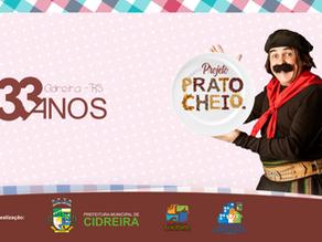 Guri de Uruguaiana esteve presente na live Prato Cheio 33 Anos de Cidreira