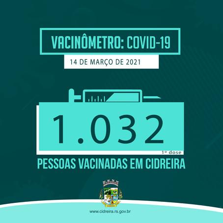 1032 pessoas vacinadas em Cidreira