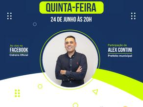 Live com Prefeito Alex Contini