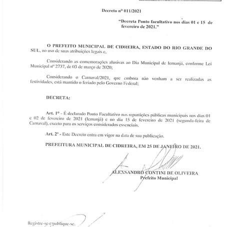 Decreto nº 11/2021