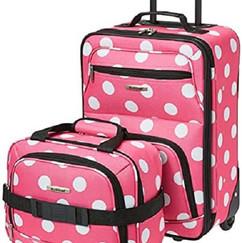 Maleta Rockland puntos rosas