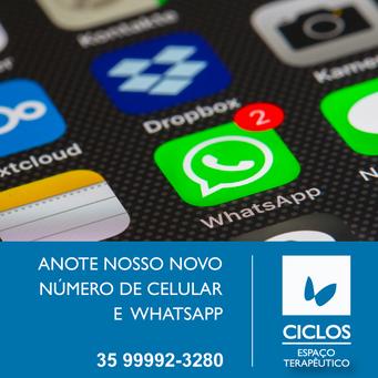 Atenção para o nosso novo WhatsApp