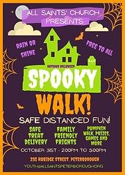 All Saints' Halloween Party Flyer. Edit