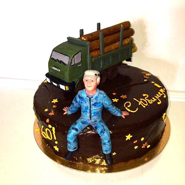 """Торт """"Водитель лесовоза"""""""