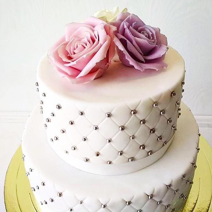 Свадебный торт № С129