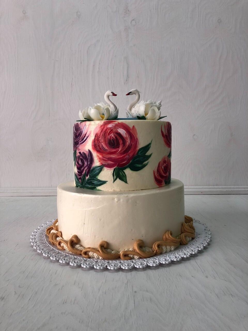 Свадебный торт № С122