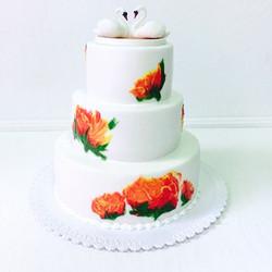 Свадебный торт № С116