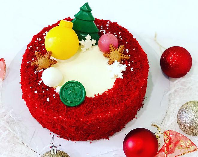 торт Красный бархат - новый год 2021