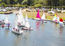 Aerial shot of boat at Hertfordshire County Yacht Club