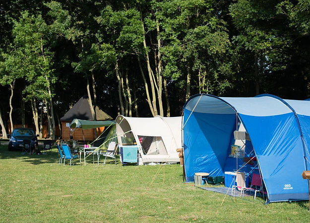 Tents pitched on campsite