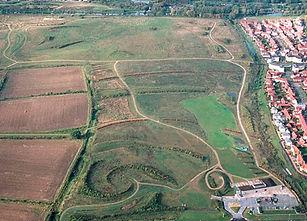 Aerial shot of Gunpowder Park
