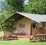 Stay in safari tent
