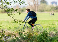 Cycling on Walthamstow Marshes