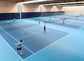 Indoor tennis courts at Lee Valley Hockey and Tennis Centre