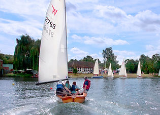 Sailing on Holyfield Lake at Fishers Green Sailing Club
