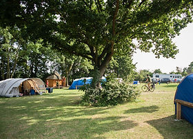 Tent field at Lee Valley Campsite, Sewardstone