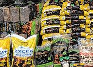 Stack of coal bags