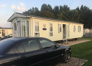 External view of a Pemberton Marlow holiday home at Lee Valley Caravan Park