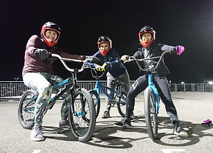 Group of women from the women's only BMX fitness class