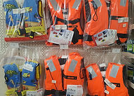 Display of buoyancy aids and safety equipment