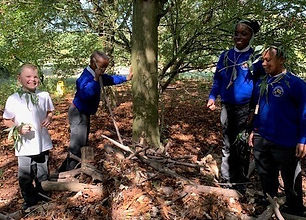 Forest School session in the Lee Valley