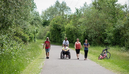 People out enjoying River Lee Country Park