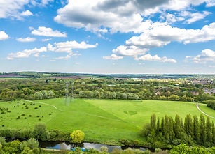 Aerial view of the Showground in River Lee Country Park