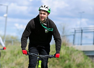 Man cycling the MTB trails