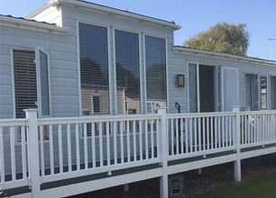 External view of a Willerby Linear holiday home at Lee Valley Caravan Park
