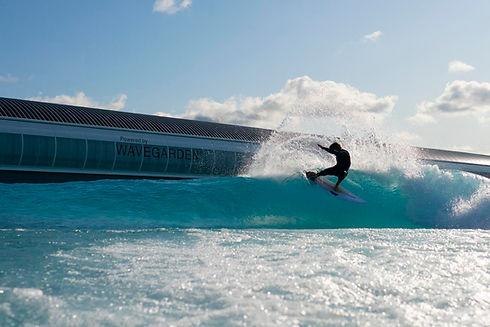 Surfer at a Wave venue. Image credit Image Garden