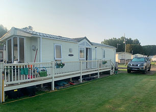 External view of a Pemberton St Moritz holiday home at Lee Valley Caravan Park