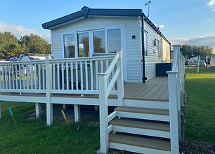 External view of a Willberby Avonmore 2016 holiday home at Lee Valley Caravan Park